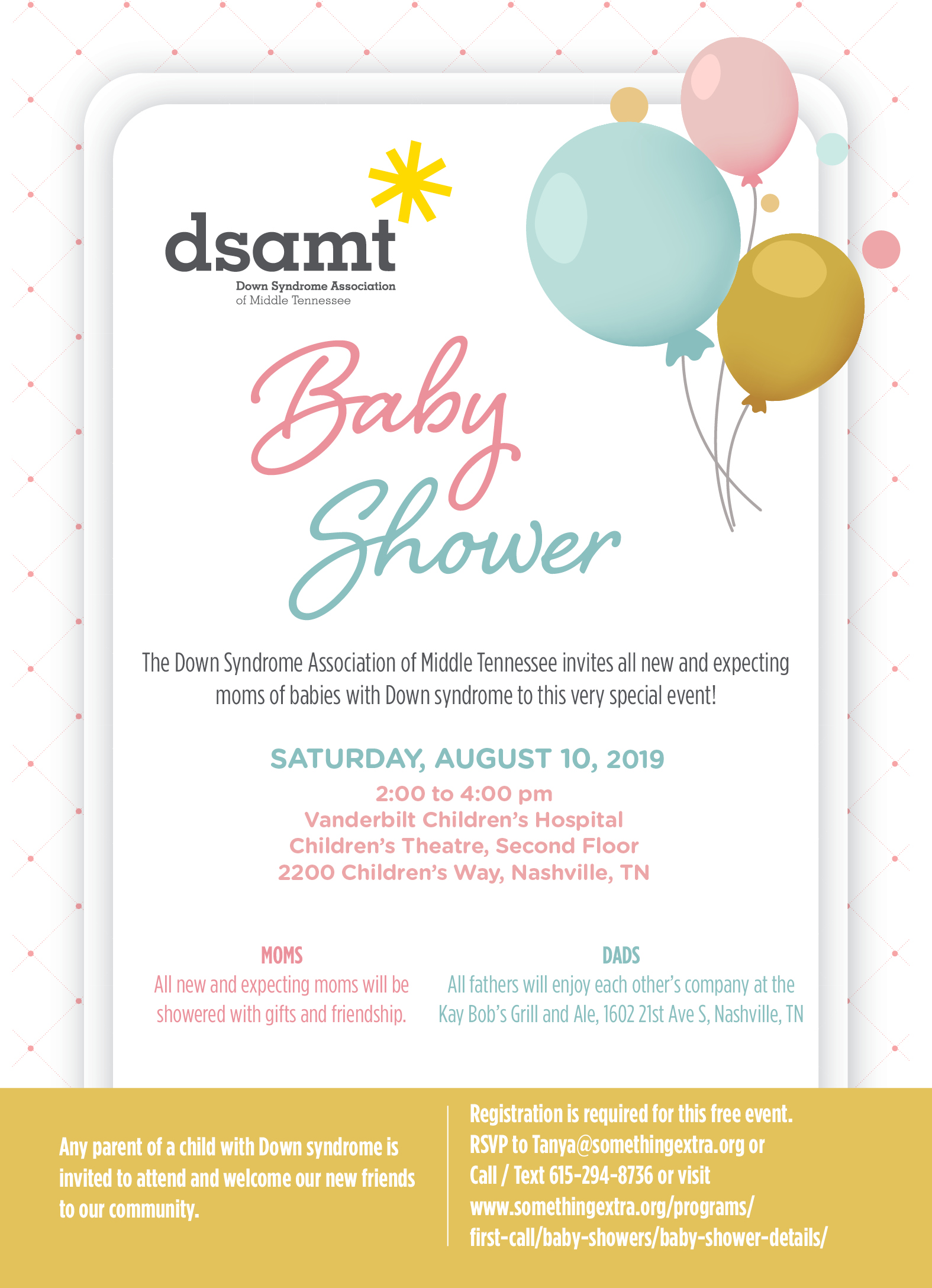 Baby Shower and DADS meeting - DSAMT